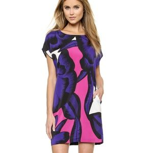 Diane Von Furstenberg Harriet tunic purple small